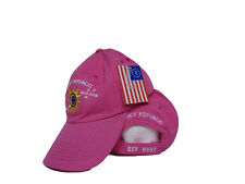 Key West Florida Conch Republic Deep Washed Light Pink Baseball Hat Cap