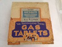 VINTAGE 1930'S STAR GAS TABLETS COUNTER TOP DISPLAY