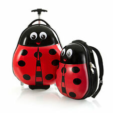 Heys Travel Tots Lady Bug Kids Luggage Set Carry On Backpack School Girls