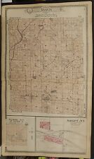 Wisconsin Portage County Map Sharon Township c1915 Dbl Pg  Y13#58