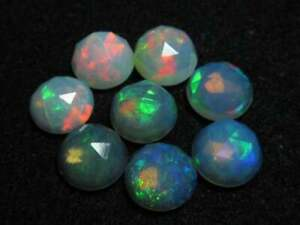 Wholesale Lot Natural OPAL 5X5 mm Round Rose Cut Loose Gemstone AB03