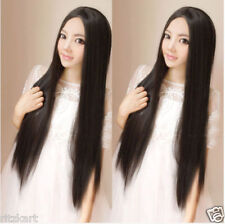 Strait Hair Wig Natural Black Shiny Silky Impoted Product Guaranty