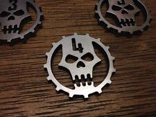 WarHammer Objective Markers -  Necron Cog - Stainless Steel - 30mm