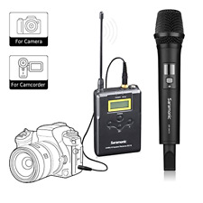 Wireless Handheld Microphone for Camera,Saramonic Uwmic15A UHF Interview Microph