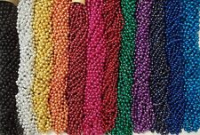 60 Choice Mardi Gras Beads Party Favors Metallic Necklaces 5 Dozen Lot