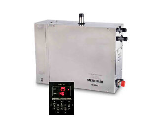 6KW,Steam Generator,Motorized Auto Drain,Stainless Steel, TOUCH PANEL SS-NTB60-U