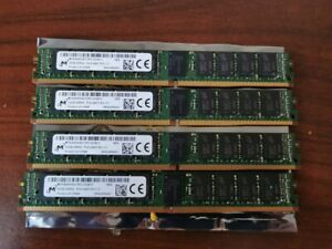 LOT of 4x 32GB Micron PC4-2400T-R DDR4 REG ECC VLP RAM