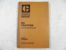 CAT Caterpillar D5 TRACTOR SPECIAL APPLICATION  PARTS BOOK 98J1134-1590 UEGO714S