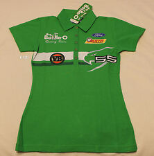 Ford RNR Bottle O Ladies Green Embroidered Raceteam Polo Shirt Size 8 New FPR