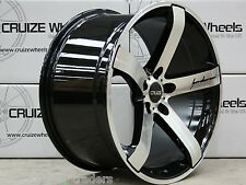 "19"" BLACK MACHINED FACE CRUIZE BLADE ALLOY WHEELS FITS AUDI A4 A5 A6 A7 A8 Q3 Q5"