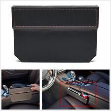 Portable PU Leather Autos Seat Gap Slit Pocket Storage Phone Card Leakproof Box