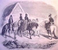Holzstich - Habitants de l´interieur de l`Islande ...Reykiavik - 1838