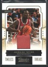 JERMAINE TAYLOR 2009/10 CLASSICS #198 RC GAME USED JERSEY ROCKETS 149/265 SP $12