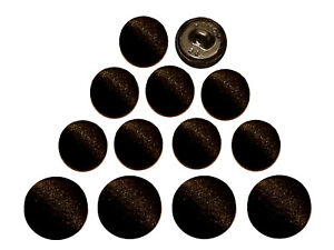 20 Smooth Satin Covered Metal Shank Buttons for Tuxedo Suits Gowns Coats 10mm
