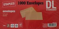 1000 New Manilla Self Seal Non Window DL Standard 80gsm Envelopes Limited Amount
