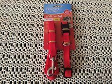 Dog lead and collar set - adjustable collar size - 24.5 - 40 cm - length 120 cm
