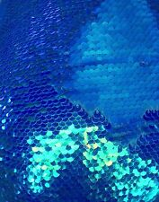 Mermaid Reversible Sequin Iridescent Royal Blue/royal Blue On Spandex By Yard