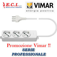 VIMAR 01290.CC.B MULTIPRESA CIABATTA UNIVERSALE 3 POSTI + CAVO PROFESSIONALE