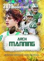 2019 Arch Manning Cracked Ice Gold Limited Card.  Newman High School Rookie