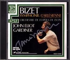 John Eliot GARDINER Signiert BIZET Symphony in C L'Arlesienne ERATO CD Autograph