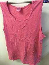 Chouinard Mens Comfort Color Tank Top, Pink, Medium, Lot of 5 Shirts, RN87270
