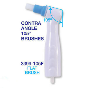 100pcs Dental Disposable 105 degree Prophy Angles - Flat Brushes