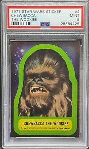 1977 Star Wars Topps Sticker #4 Chewbacca PSA 9 MINT