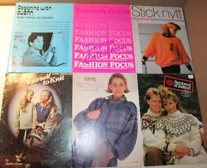 6x Knitting Books Dusan Fashion Focus Nordic Stick Nytt Wispa Samband Iceland