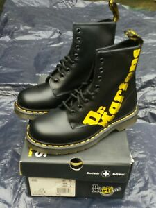 Rare vintage Dr Martens black with  yellow logo size 6