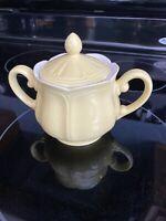 Vintage Buttercup Federalist Ironstone Sugar Bowl - YELLOW