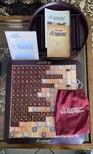 Scrabble Deluxe Turntable Board Game 1999 Excellent Original Box