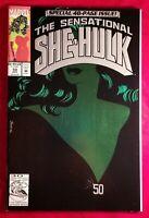 1993 The Sensational SHE HULK 50 Comic vf NM Green Foil vtg Marvel Key Issue 90s