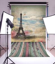 3x5FT Retro Artistic Paris Tower Photography Background Backdrops Studio Props