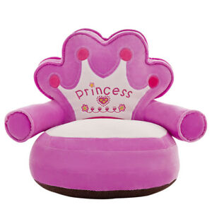 Crown Baby Sofa Cover Learning To Sit Plush Seat Case w/o Filler (Purple) #E