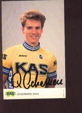 ALFRED ACKERMANN cyclisme ciclismo Signée KAS dédicace ciclista cycling radsport