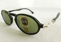 Vintage B&L Ray Ban Gatsby Deluxe DLX Style 1 Black Green Oval W1525 Sunglasses