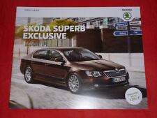 """SKODA Superb II Typ 3T """"Exclusive"""" Sondermodell Prospekt Brochure von 2014"""