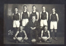 REAL PHOTO HUNTINGTON INDIANA HIGH SCHOOL BASKETBALL TEAM POSTCARD COPY