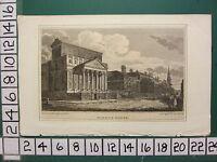C1815 Antik London Aufdruck ~ Mansion House