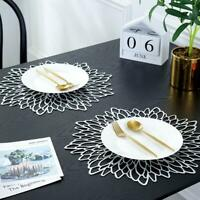 Gold Silver Placemats Table Mat  Washable Dining Wedding Party Packs Flower Decr