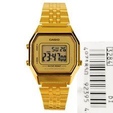 Casio LA-680WGA-9D Ladies Watch Gold Tone Digital Retro Multi-Function LA680 New