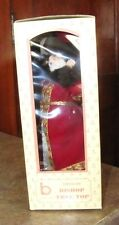 """Brinn's Porcelain Bishop Tree Top Topper Red Suit 11 1/2"""" Vintage 1986"""