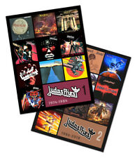 "JUDAS PRIEST twin pack magnet set (two 4.75"" x 3.75"" discography magnets)"