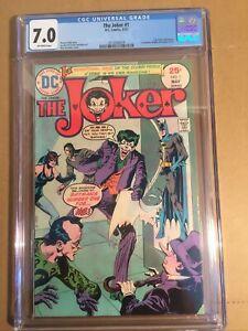 DC Comic The Joker #1 1975 CGC Grade 7.0