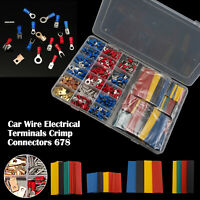 678Pcs Car Wire Assorted Insulated Electrical Terminals Connectors Crimp Box Kit