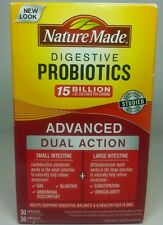 Nature Made Digestive Probiotics Advanced Dual Action 60 Capsules Box Issues