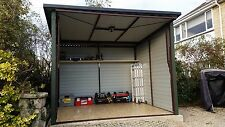 Quality 8x8ft Metal Garage Bike Shed for Motorbike or Garden Equipment Colour