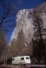 Orig Technicolor Slide: El Capitan Monolith Yosemite Park RV Camper Perspective