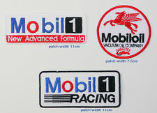 MOBIL 1 Race Sponsorship Rally Jacket Patch Set of THREE Patches - FREE POST