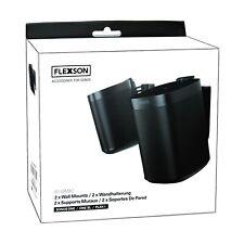 Flexson Wall Mount Speaker Brackets for Sonos One - One SL & Play1 - Pair Black